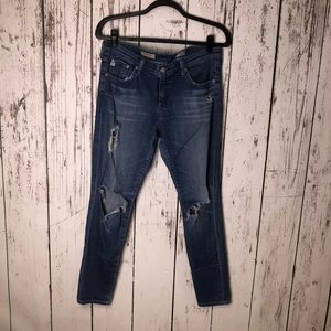 AG Legging Ankle Jeans Distressed For Cut Offs 31